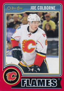 Joe Colborne 2014-15 O-Pee-Chee card #173 Red Parallel