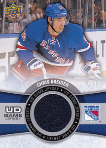 Chris Kreider 2015-16 Upper Deck UD Game Jersey card GJ-CK