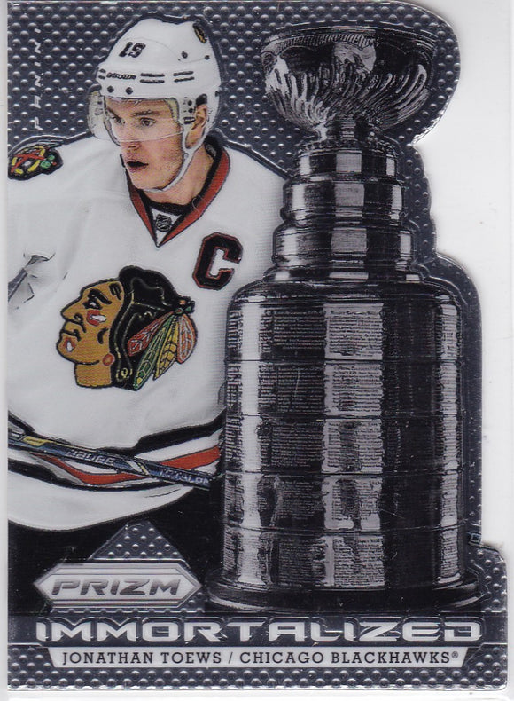 Jonathan Toews 2013-14 Panini Prizm Immortalized card I-3