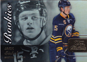 Jack Eichel 2015-16 Showcase Flair Rookies card Row 0 Seat 65