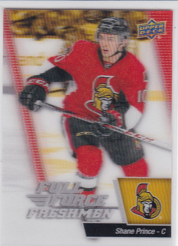 Shane Prince 2015-16 Full Force 3D Freshmen Rookie card #121