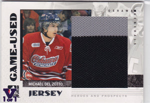 Michael Del Zotto 15-16 Final Vault 2007-08 Heroes and Prospects Jersey GUJ-22 V 1 of 1