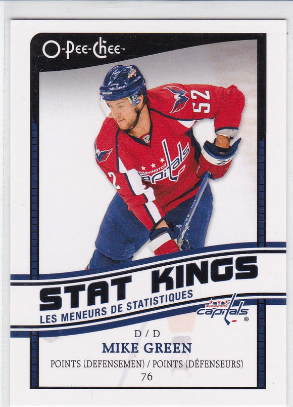 Mike Green 2010-11 O-Pee-Chee Stat Kings card SK-9