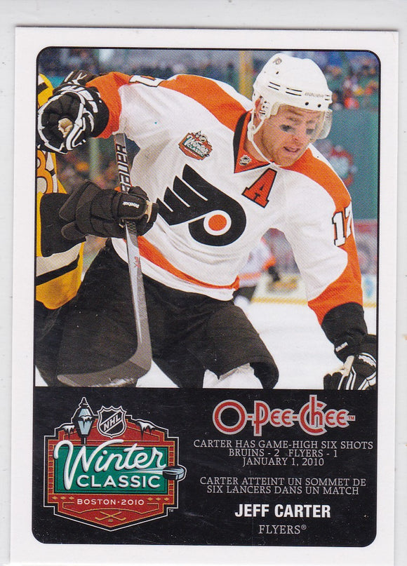 Jeff Carter 2010-11 O-Pee-Chee Winter Classic card WC-3