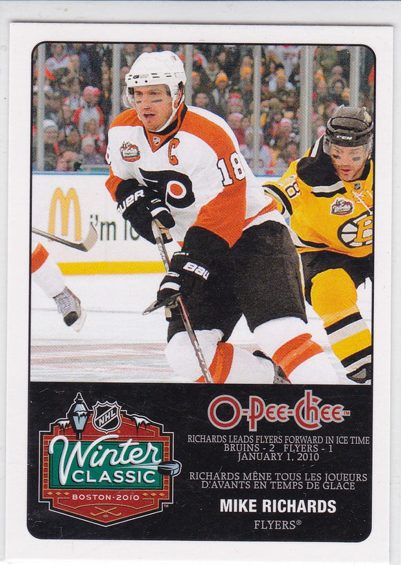 Mike Richards 2010-11 O-Pee-Chee Winter Classic card WC-4