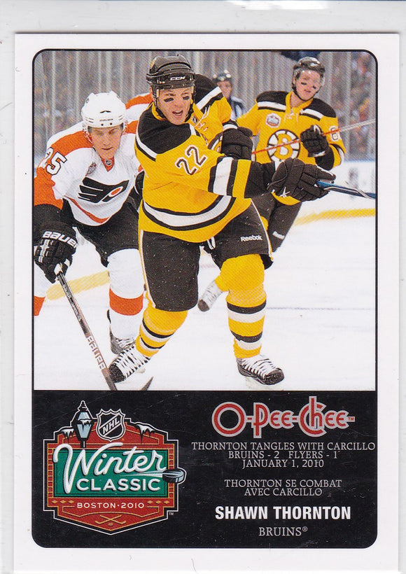 Shawn Thornton 2010-11 O-Pee-Chee Winter Classic card WC-15