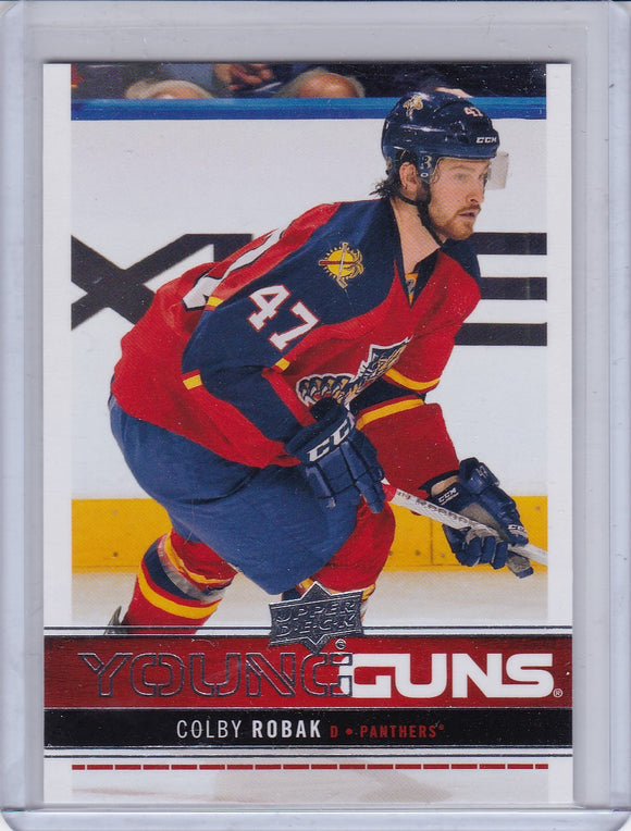 Colby Robak 2012-13 Upper Deck Young Guns Rookie card #224