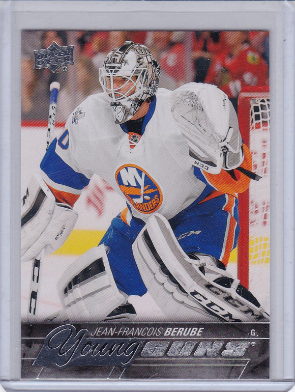 Jean-Francois Berube 2015-16 Upper Deck Young Guns Rookie card #242