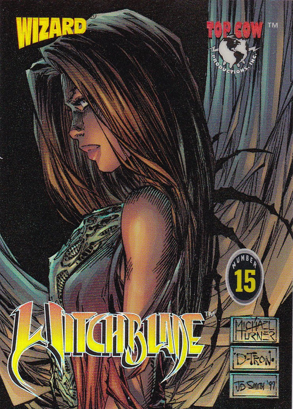 1997 Wizard Top Cow Witchblade Chromium Promo Card #15