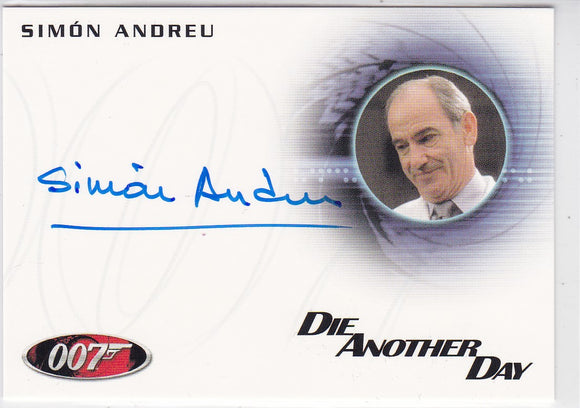 James Bond 50th Anniversary Simon Andreu as Dr. Alvarez Autograph card A181
