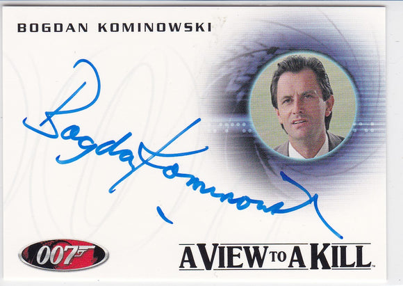 James Bond Mission Logs Bogdan Kominowski as Klotkoff Autograph card A164