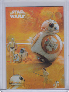 Star Wars The Force Awakens Character Montage card #7 BB-8 Foil #d 190/250