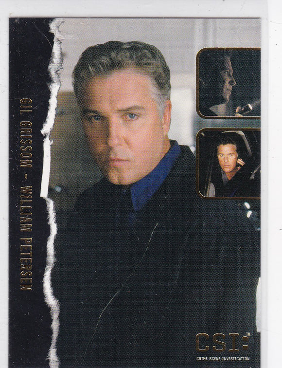 CSI Crime Scene Investigation Stars of CSI Gold Foil card F1 Gil Grissom - William Petersen