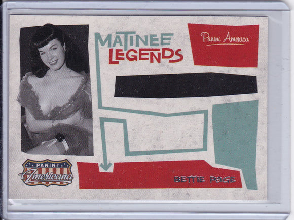 Bettie Page 2011 Americana Matinee Legends card #2
