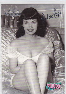 2006 Benchwarmer Bettie Page Pinups card BP-4 of 8