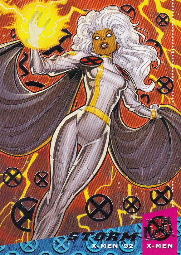 2018 Fleer Ultra X-Men X-Men '92 Silver Foil card #X10 Storm