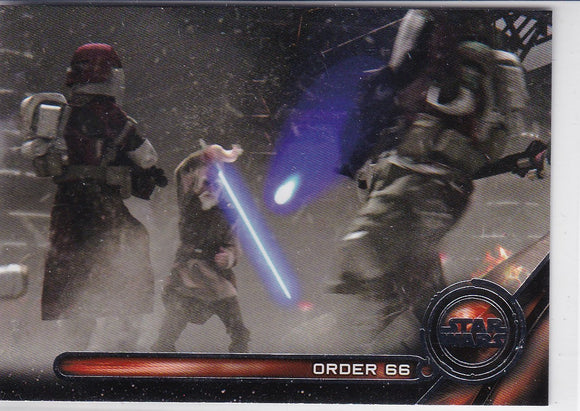 2017 Star Wars Galactic Files Reborn Galactic Moments card #GM-4 Order 66