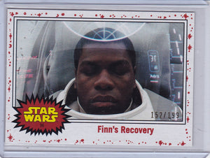 Star Wars Journey to The Last Jedi card #96 Finn's Recovery White Starfield #d 152/199