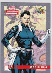 2016 Marvel Annual Base SP card #141 Maria Hill