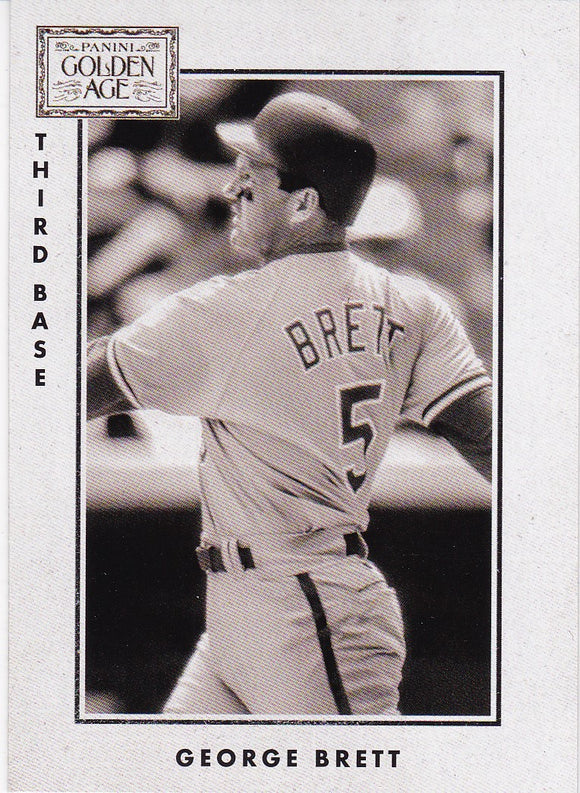 2014 Golden Age 1913 National Game Insert card #2 George Brett - Kansas City Royals