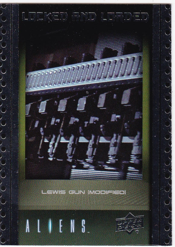 2018 Upper Deck Aliens Locked & Loaded Insert Card ABA-10 Lewis Gun