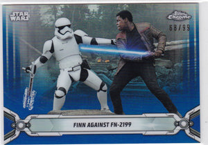 Star Wars Chrome Legacy card #165 Blue Refractor #d 68/99