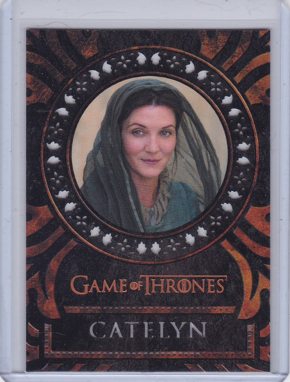 Game Of Thrones Inflexions Laser Die Cut card L30 Catelyn