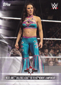 2019 Topps WWE SummerSlam Women's Evolution card DR-28 Mickie James