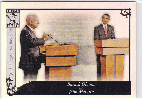 2010 Topps Tribute Greatest Rivalries Revisited GR-96 Obama Vs McCain
