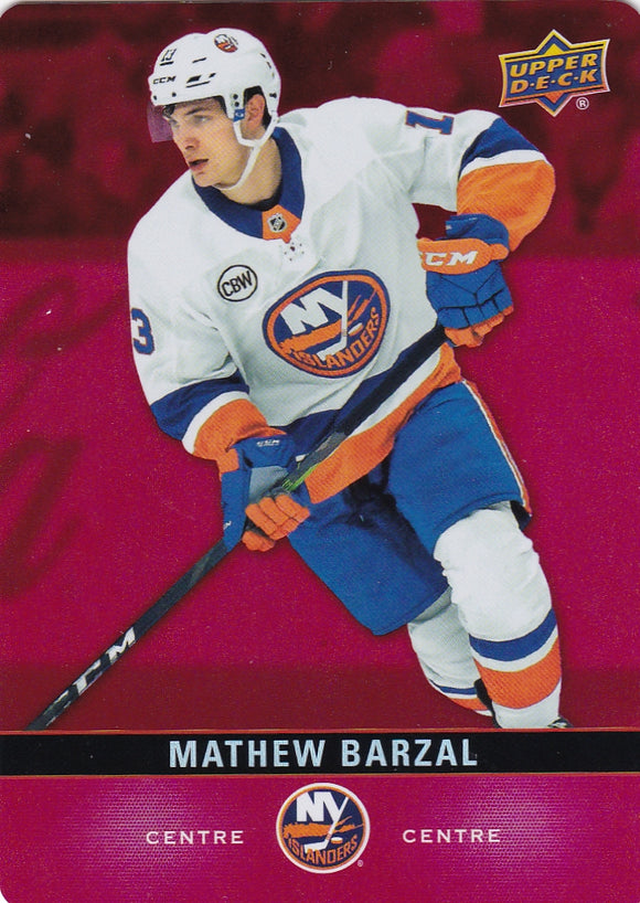 Mathew Barzal 2019-20 Tim Hortons Red Parallel Die Cut card DC-32