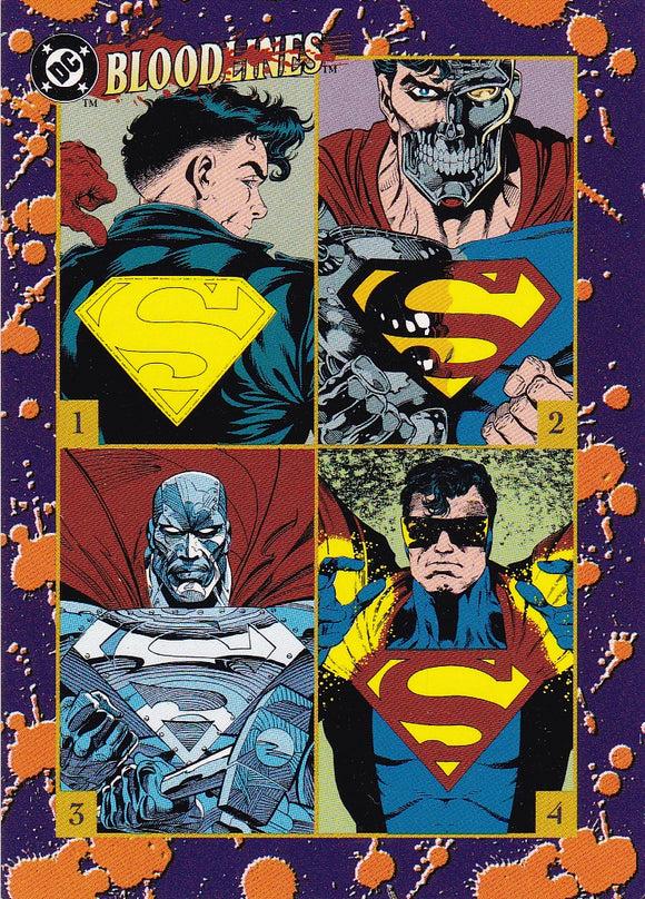 DC Bloodlines Promo card Which, if any, is the Real Man Of Steel