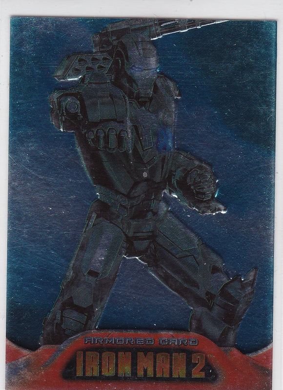 2010 Upper Deck Iron Man 2 Embossed Armored card AC6