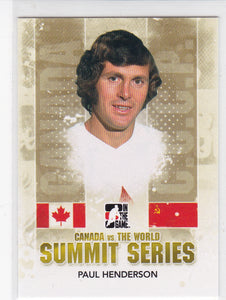 Paul Henderson 2011-12 ITG Canada vs The World Summit Series card SS-01