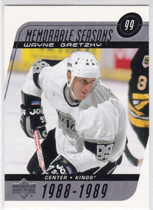 Wayne Gretzky 2002-03 Upper Deck Memorable Seasons card #189