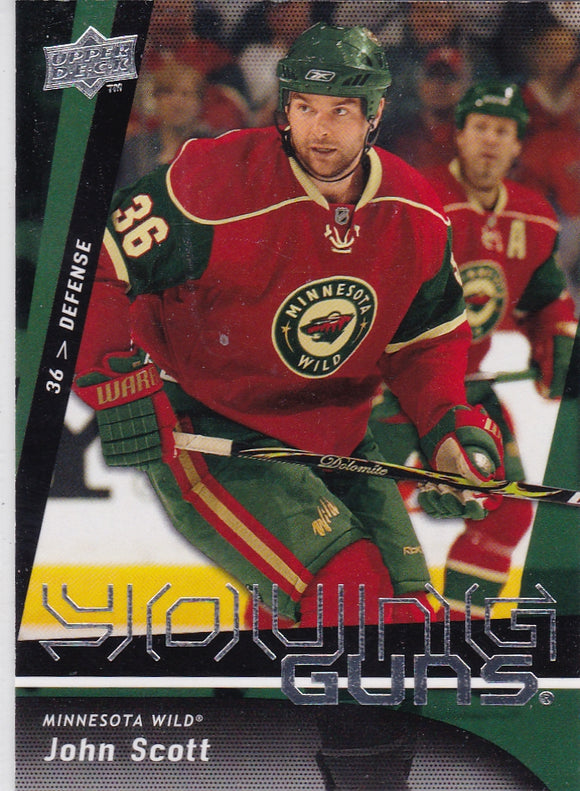 John Scott 2009-10 Upper Deck Young Guns Rookie card #236