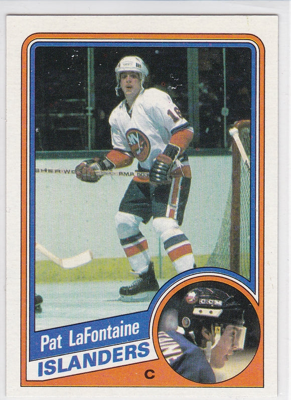 Pat LaFontaine 1984-85 Topps Rookie card #96 SP RC