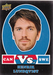 Henrik Lundqvist 2017-18 Upper Deck Team Canada VS Swe Black card VSB-HL