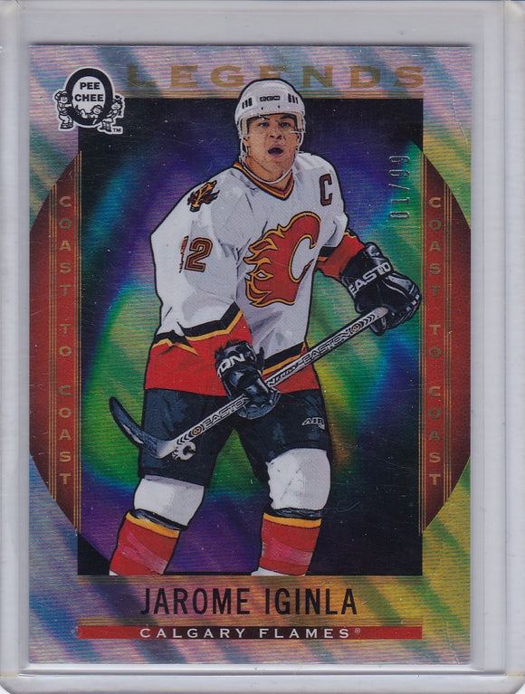 Jarome Iginla 2018-19 O-Pee-Chee Coast to Coast Legends card #203 Polar Lights 01/99