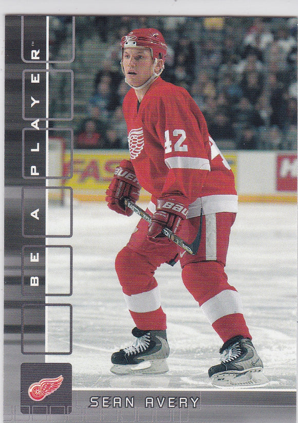 Sean Avery 2001-02 Be A Player Rookie card #368