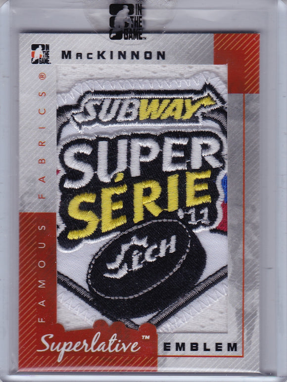 Nathan Mackinnon 2012-13 Superlative Emblem Subway Patch card SE-23 #d 1/1