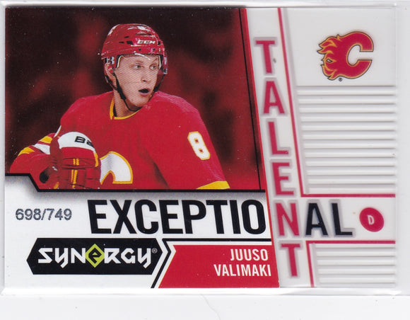 Juuso Valimaki 2018-19 Synergy Exceptional Talent card ET-11 #d 698/749