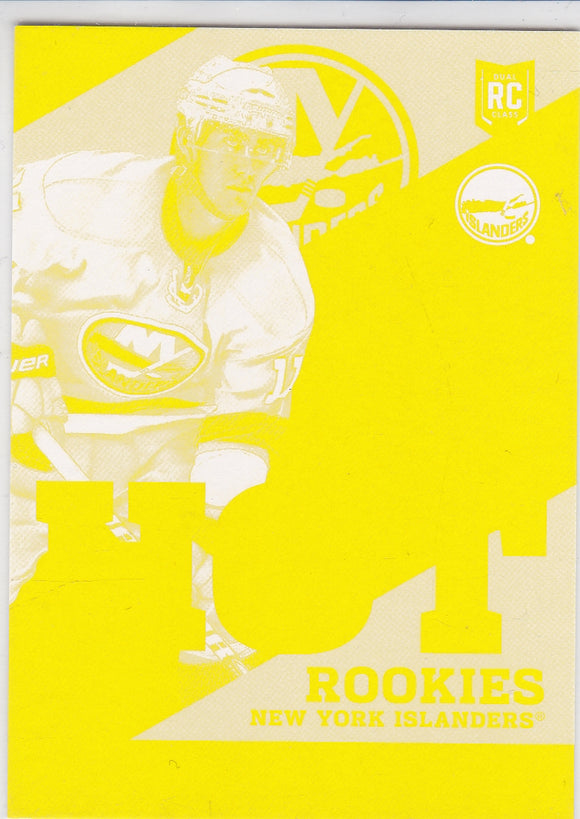 Brock Nelson 2013-14 Score Hot Rookies HK2 Fall Expo Yellow Proof Blank Back