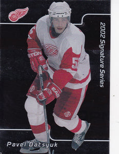 Pavel Datsyuk 2001-02 Be A Player Signature Series Rookie card #233