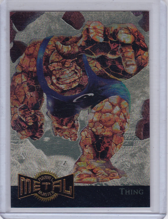 1995 Marvel Metal Gold Blaster card # 14 of 18 Thing