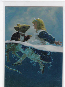 Hildebrandt II 30 Years Of Magic Chromium Insert card C1 Alice Swims With Mouse