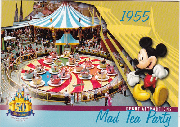 2005 Upper Deck Disneyland 50th Anniversary card DL-04 Mad Tea Party