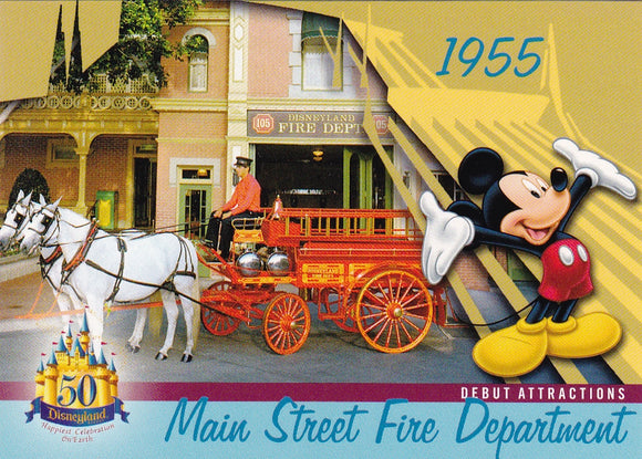 2005 Upper Deck Disneyland 50th Anniversary card DL-13 Main Street Fire Dep