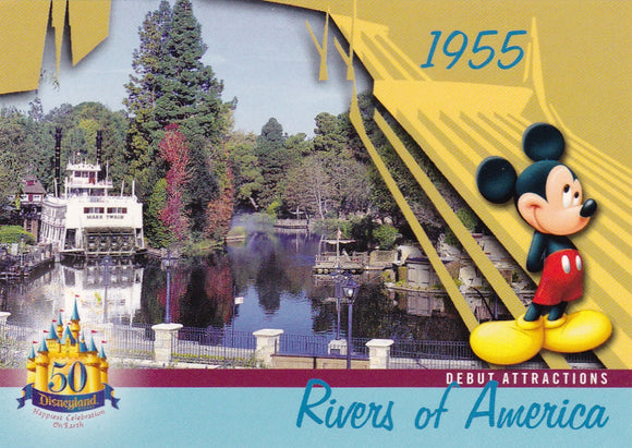 2005 Upper Deck Disneyland 50th Anniversary card DL-15 Rivers Of America