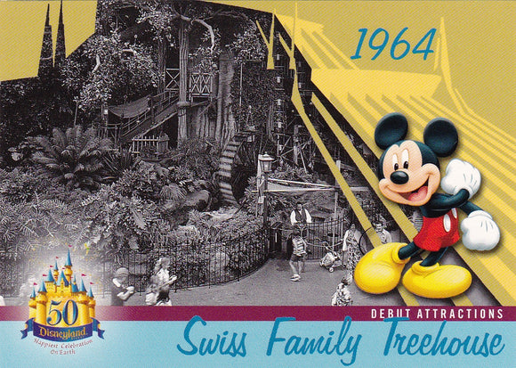 2005 Upper Deck Disneyland 50th Anniversary card DL-31 Swiss Family Treehouse