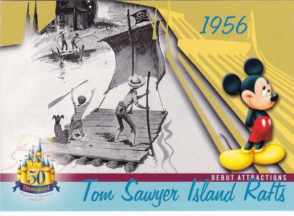 2005 Upper Deck Disneyland 50th Anniversary card DL-20 Tom Sawyer Rafts